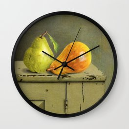 Pair Of Pears Wall Clock