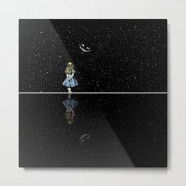Alice In Wonderland Starry Night Metal Print