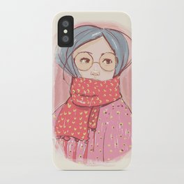 Girl with scarf iPhone Case