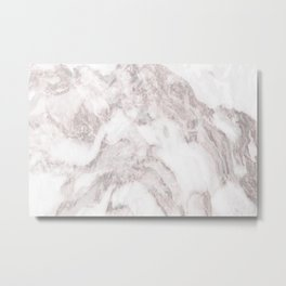 White Marble Mountain 014 Metal Print