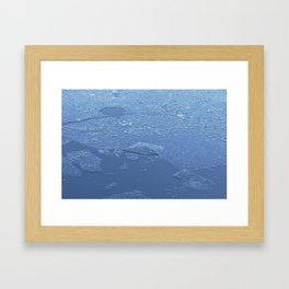 Frozen Chickadee Lake 3 Framed Art Print
