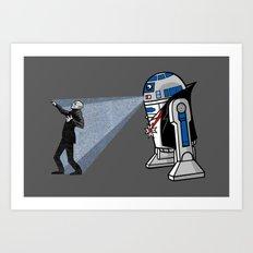NOS4-R2 (star war dracula) Art Print