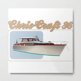 chris craft tee Metal Print