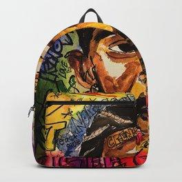 rip nip,rapper,rap,lyrics,music,album,poster,shirt,memorial,hiphop,wall art,painting,fan art,cool Backpack