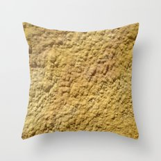 Yellow Cement Wall Throw Pillow