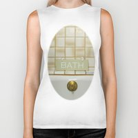 bath Biker Tanks featuring Bath by Misspeden