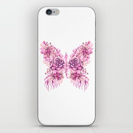 Flowery Pink Princess Butterfly iPhone Skin