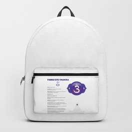 Third Eye - Ajna Chakra Chart & Illustration Backpack