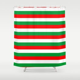 italy hungary bulgaria iran mexico Madagascar flag stripes Shower Curtain