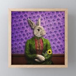 Miss Bunny Lapin in Repose Framed Mini Art Print