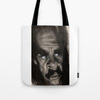 nick cave Tote Bags featuring Nick Cave by Patrick Dea