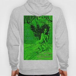 Vintage Parisian Green Fairy Absinthe Advertisement Poster Hoody