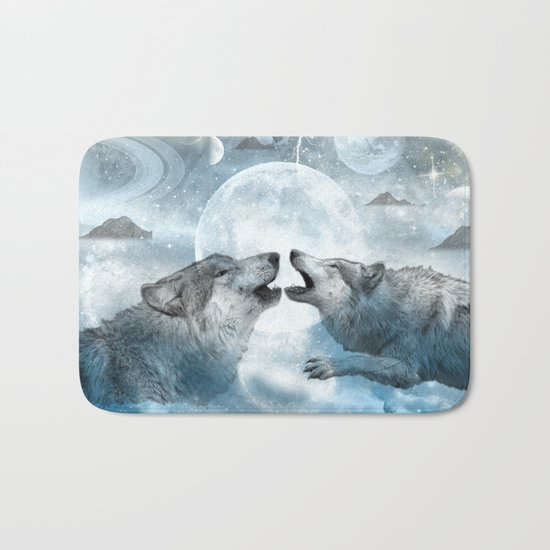 Wolves Bath Mat
