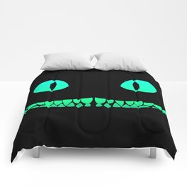 Cheshire black smile Comforters