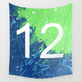 Blue & Green, 12, No. 4 Wall Tapestry