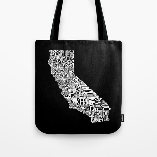 Typographic California Tote Bag