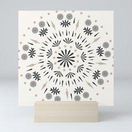 Snowflakes Scandic Nordic Mini Art Print