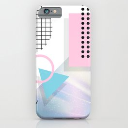 Memphis Pastels iPhone Case