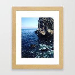 cali ocean Framed Art Print