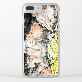 Colored Wood Two Clear iPhone Case