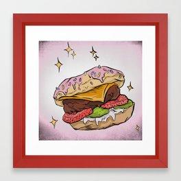 Dessert Burger Framed Art Print