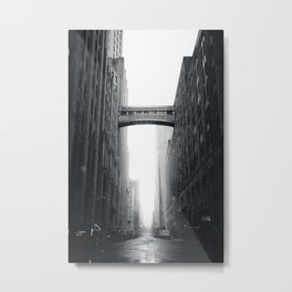 Snow Bridge in New York Metal Print