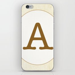 Vintage Letter Series - A iPhone Skin
