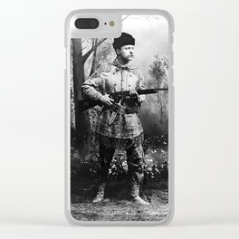 Theodore Roosevelt - Hunting Portrait Clear iPhone Case