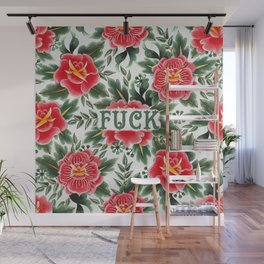 Fuck - Vintage Floral Tattoo Collection Wall Mural