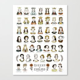 Queens of England Canvas Print