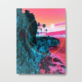 Sine Beach Metal Print