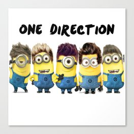one direction minion Canvas Print