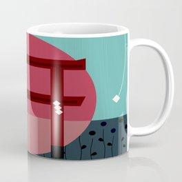 Snowing Sunset Coffee Mug