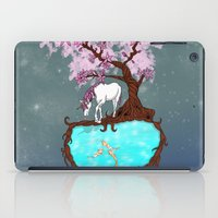 the last unicorn iPad Cases featuring Last Unicorn by Astrablink7