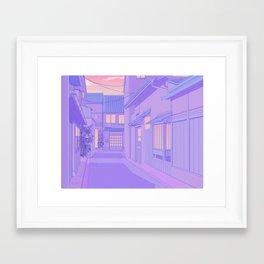 Lavender Street Framed Art Print