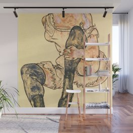 "Egon Schiele ""Seated Woman With Bent Left Leg (Torso)"" Wall Mural"