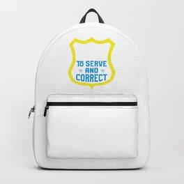 Grammar Police Design for English Teachers Backpack