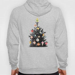 Retro Decorated Christmas Tree Hoody