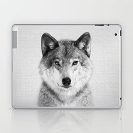 Wolf 2 - Black & White Laptop & iPad Skin
