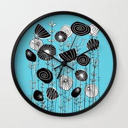 Wildflowers Grow Free Wall Clock