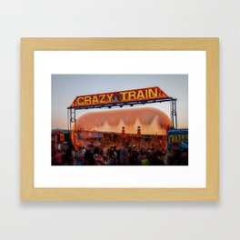 All Aboard the Crazy Train carnival ride Framed Art Print