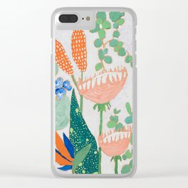 Proteas and Birds of Paradise Painting Clear iPhone Case