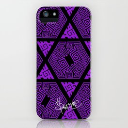 Kagome Greek Fret ... Purple iPhone Case