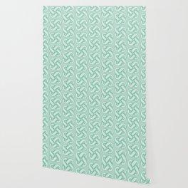 Celtic Knot Pattern in Green Wallpaper