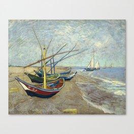 Van Gogh - Fishing boats on the beach, 1888 Canvas Print
