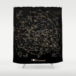 Stars Constellations Love Astronomy Cosmos Galaxy Universe Shower Curtain