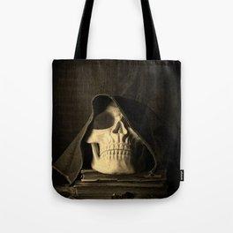 Creepy Halloween Skull Tote Bag