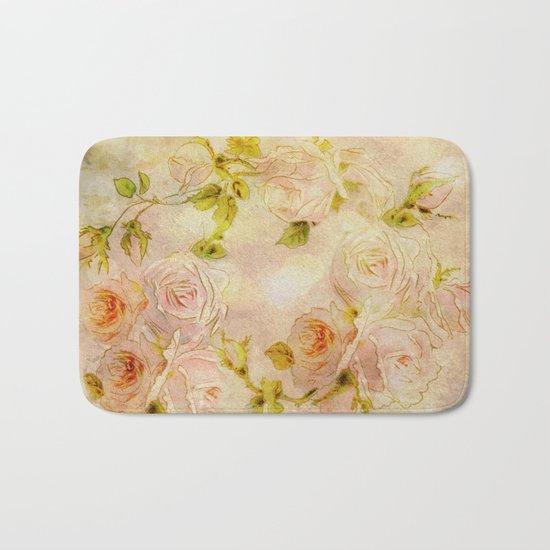 Pink Rose Fantasy Bath Mat