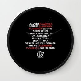 Flamengo anthem. Brazilian football team. Soccer gift. Wall Clock