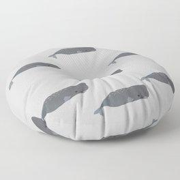 The cute whale baby nursery in grey  Floor Pillow
